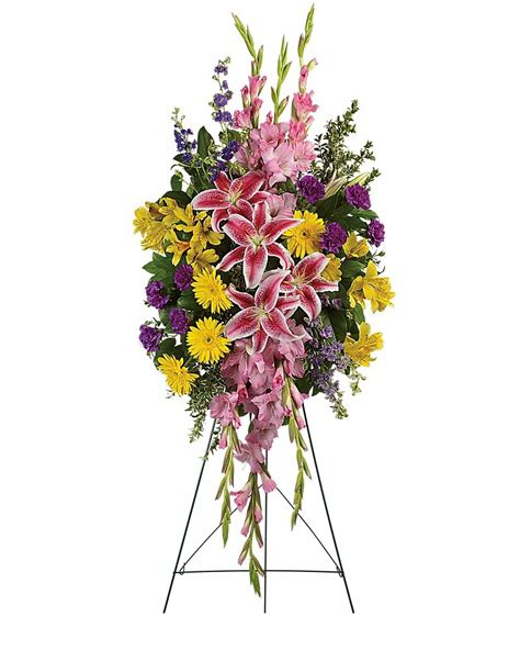 Sun City Florists Cards And Gifts - rainbow of remembrance spray