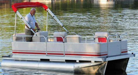 14 ft pontoon boat 14 ft cruising pontoon boat w bimini top steering