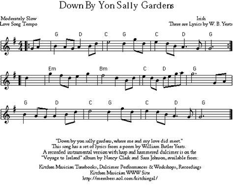 Sally Gardens Lyrics by Midi And Gif Files