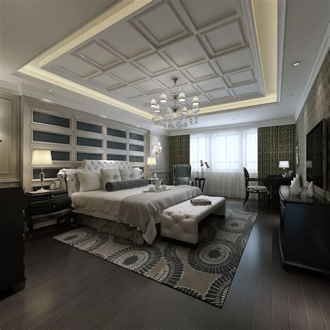white luxury bedroom interior download 3d house luxurious bedroom with white bed 3d model max cgtrader com