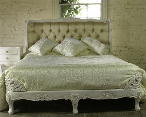 french bed reproduction french bed antique white upholstered furniture louis