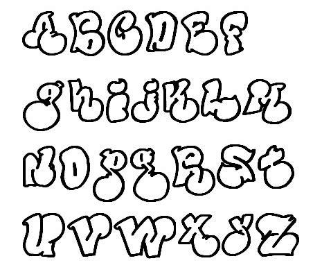 style font bubbles graffiti fonts style