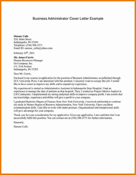 Firm Administrator Cover Letter by Business Letter Exle For Students Free Business Template