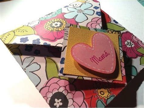 tutorial tarjetas scrapbook tutorial mini 225 lbum tarjeta para mam 225 mother s day mini