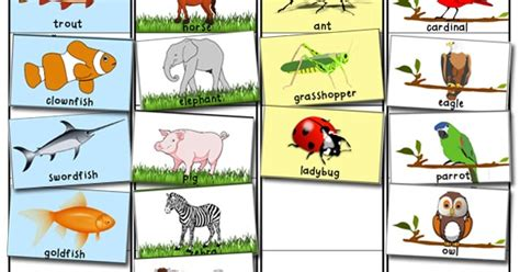 printable animal pictures for sorting animal classification and sorting activity totschooling