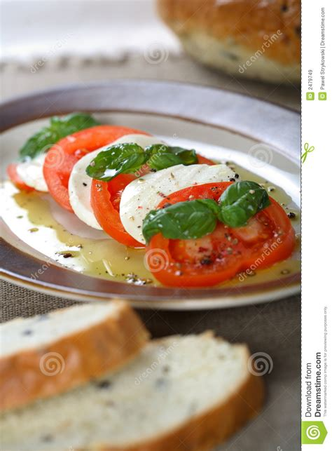 Cottage Cheese And Tomato by Tomatoes And Cottage Cheese Royalty Free Stock Images