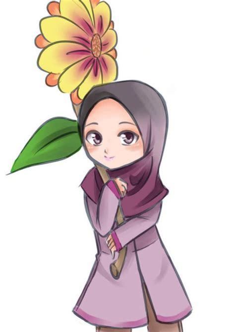 gambar anime kartun bercadar 300 gambar kartun muslimah bercadar cantik sedih keren