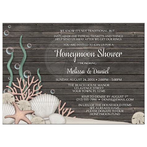 Honeymoon Shower Invitations by Honeymoon Shower Invitations Rustic And Wood