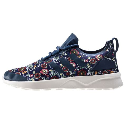 Adidas Womens Zx Flux The Farm Pack Floral Originals adidas zx flux adv verve w womens trainers in blue multicolour