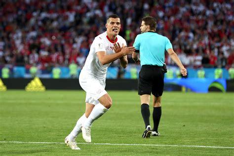 granit xhaka goal in switzerland vs serbia world cup