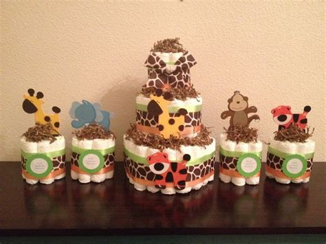 1 jungle theme mini diaper cake baby shower by best 25 jungle diaper cakes ideas on pinterest baby