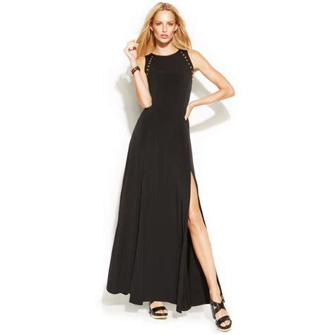 Sale Fashion Wanita Dress Maxi Michael michael kors michael studtrim maxi dress in black
