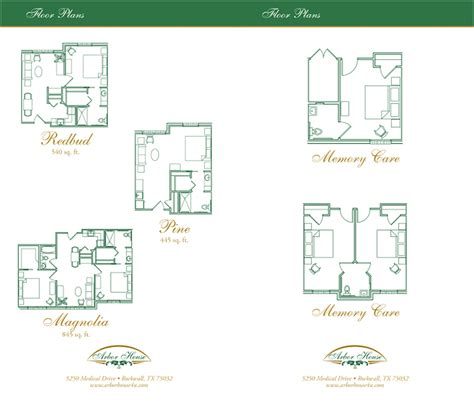 assisted living floor plan rockwall arbor house assisted living memory care