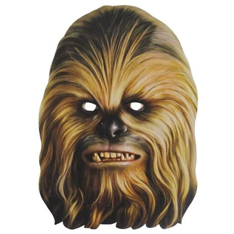 printable chewbacca mask star wars chewbacca cardboard face mask partyrama