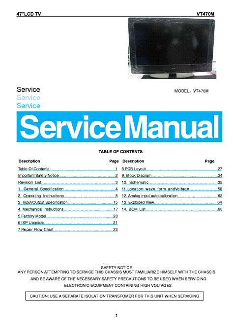 visio troubleshooting vizio tv service manuals images