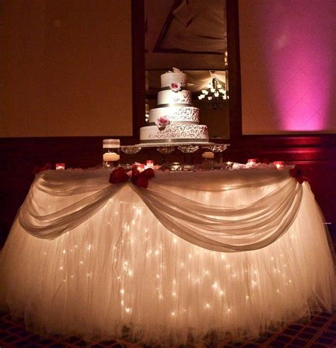 Cake Table Decoration Ideas by 25 Best Ideas About Tulle Wedding Decorations On