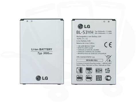 Lg Battery Original G3 Bl 53yh Baterai 3000 Mah genuine lg g3 d850 d855 ls990 battery eac62378701 bl 53yh