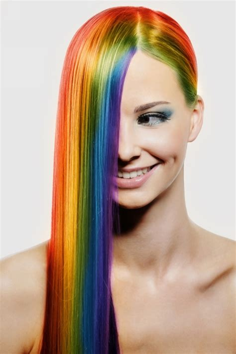 cute hairstyles rainbow rainbow hair google search image 1320901 by orchid
