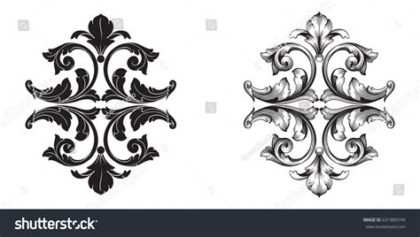 decorative baroque design elements vector baroque vector set vintage elements design stock vector