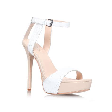 white high heeled sandals white sandals high heels mad heel