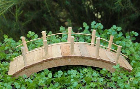 Miniature Terrarium Woden Brige Garden miniature dollhouse garden furniture wood bridge new ebay