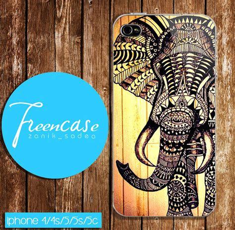 Aztec Pattern Wood Classic Iphone All Hp aztec elephant drawing design iphone from freencase on etsy
