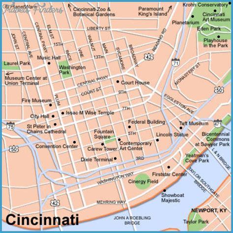 map of usa cincinnati cincinnati map tourist attractions travelsfinders