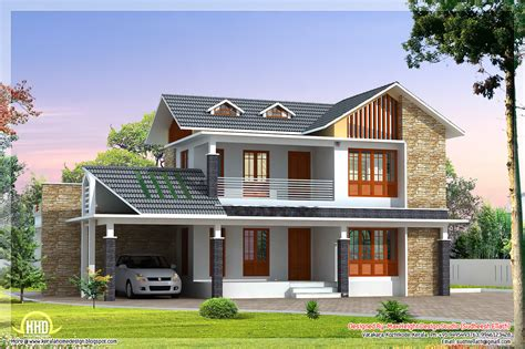 2 beautiful villa elevation designs in 2700 sq home