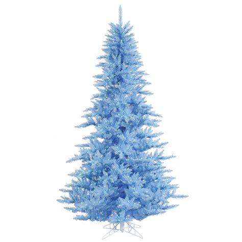 3 foot sky blue fir christmas tree blue lights k124231