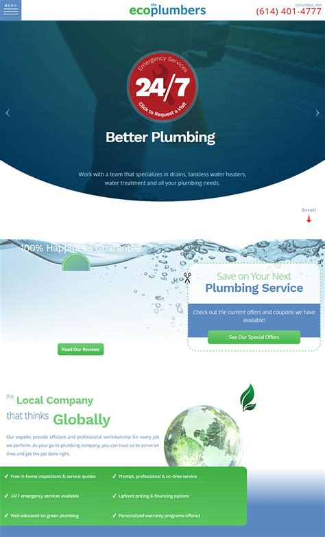 Eco Plumbing by 100 Plumbing Websites For Design Inspiration