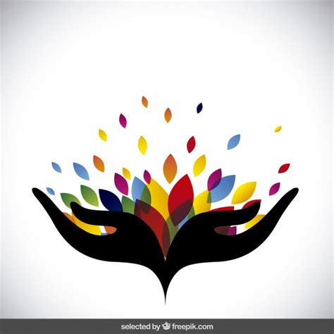 colorful logos abstract logo with colorful leaves vector free