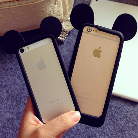 Ear Micky Softcase For Iphone 4 4s 5 5s 5e Samsung Note 3 new black mickey mouse ears silicone frame bumper for iphone 4s 4g 5g 5 5s 6 6plus soft rubber