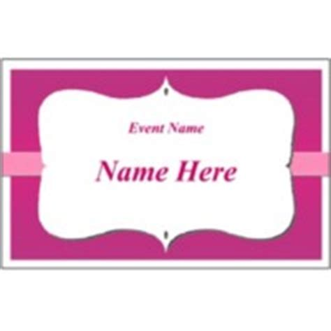 name tag template word 2010 fabric name badges scroll fuschia background