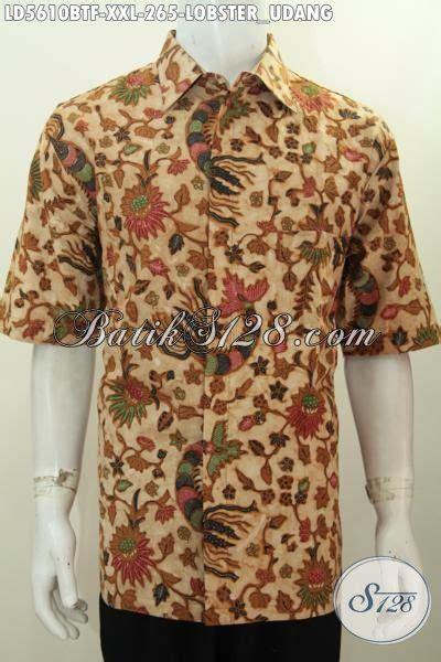 Hem Batik Tulis Pendek F60417022bru Kemeja Batik Terbaru Murah produk terbaru pakaian batik untuk pria gemuk hem batik modis lengan pendek motif udang lobster
