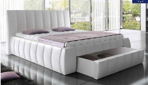 Design Lit by Lit Design Capitonn 233 Blanc Avec Coffre De Rangement Milo