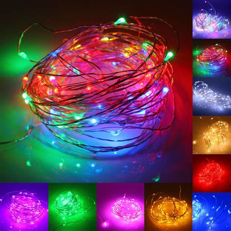 small string of battery operated led lights 2m 20 led battery operated mini led copper wire string