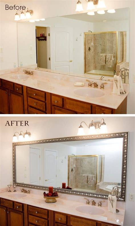 how to frame a large bathroom mirror 25 best ideas about frame bathroom mirrors on pinterest