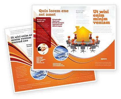 building project conference brochure template design and