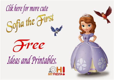 sofia the first free printables is it for parties is