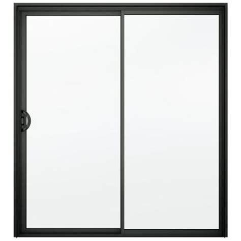 Bronze Sliding Glass Doors Jeld Wen A 200 Series 72 In X 80 In Bronze Reversible Aluminum Sliding Patio Door With Clear