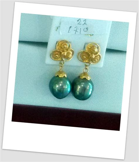 Jual Anting Mutiara by Handmade Gold Earring With South Sea Pearl Etr 021