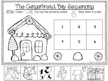 preschool gingerbread man printable book quot the gingerbread boy quot sequencing freebie by primary
