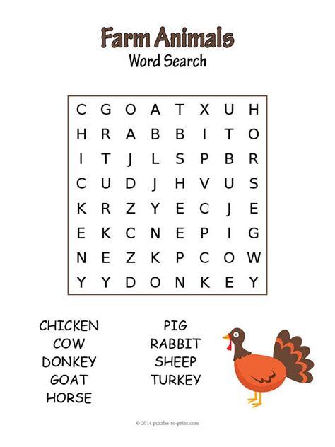 20 Fun Animal Word Searches Kitty Baby Love | 20 fun animal word searches kitty baby love