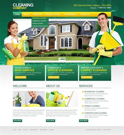 Cleaning Website Template 36572 Housekeeping Website Templates Free