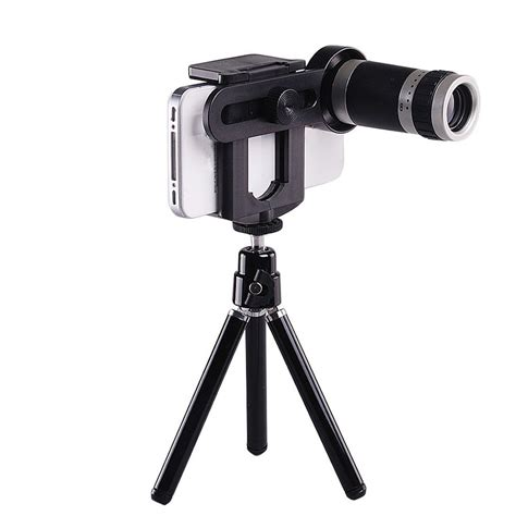 Tripod Zoom universal 8x optical zoom telescope lens tripod holder mobile phone j2e5 ebay
