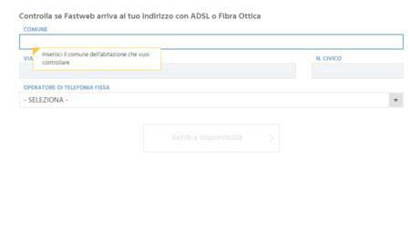 copertura fastweb mobile come verificare la copertura fibra ottica in italia