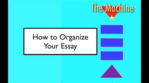 The Machine Stops Essay by How To Organize Your Essay The Machine