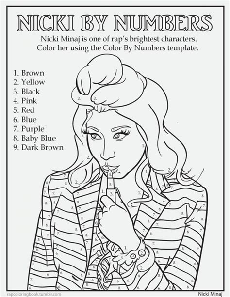 a boy s color by number book books nicki minaj color by number coloring page