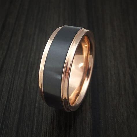 18k gold and elysium black ring custom made