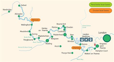 thames river boat map river thames boat hire in the uk boating holidays